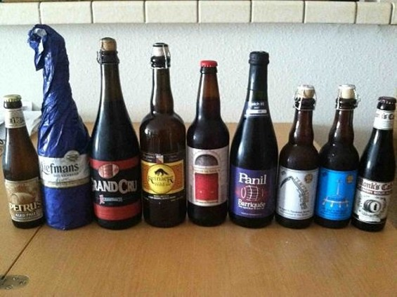 Our sour beer lineup. - JASON HENRY