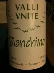 Oy! Valli Unite Bianchino from Piemonte.