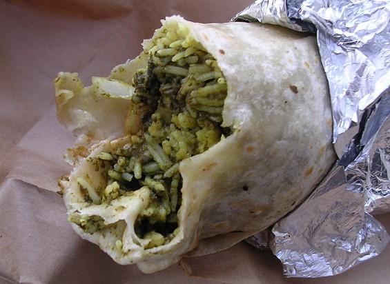 Paneer burrito ($7.75). - JOHN BIRDSALL