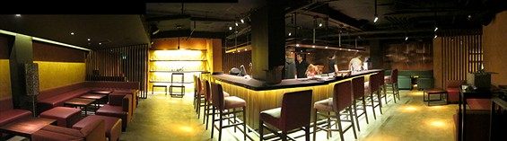 Panorama of the bar--click for a bigger view - LOU BUSTAMANTE