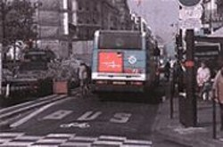 Paris' bus-only lanes could be  a model for San Francisco's future.
