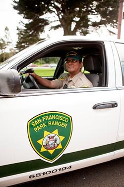 JOSEPH SCHELL - Park Patrol chief Marcus Santiago - works more than 70 hours per week, - 52 weeks per year.