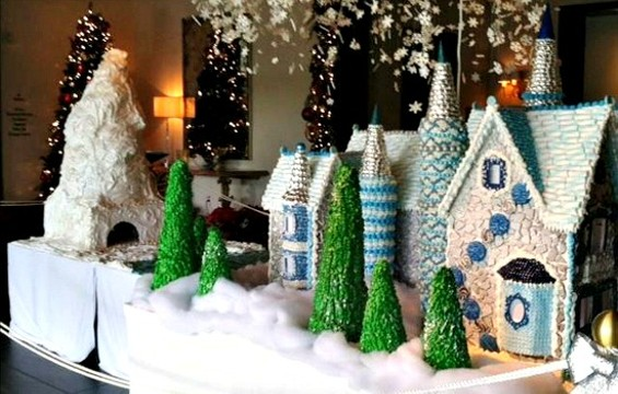 Part of the 90-square-foot gingerbread village at Rosewood Sand Hill. - ROSEWOOD SAND HILL