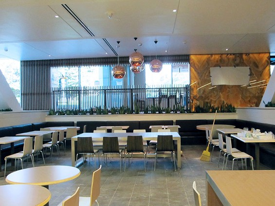 Part of the Metreon's new dining area. Sanraku restaurant is in the background. - LUIS CHONG
