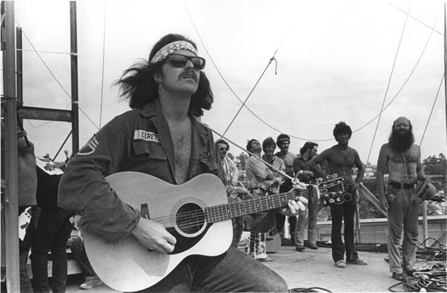 Country Joe McDonald at Woodstock.