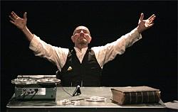 MARGARET WHITAKER - Paul Gerrior plays the curmudgeonly Krapp.