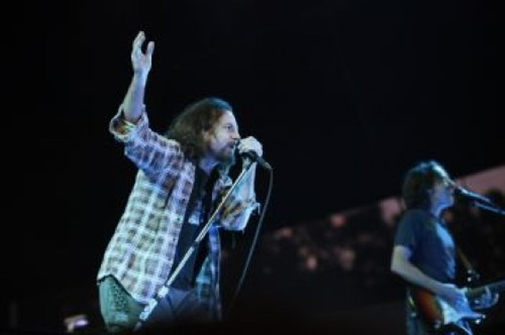 Pearl Jam performing at S.F.'s Outside Lands festival in 2009.