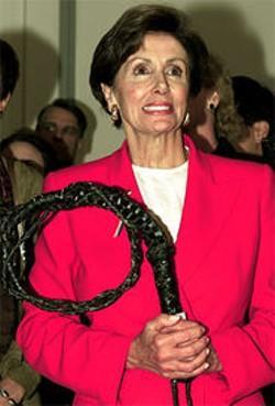 Pelosi in 2001 ...