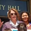 Pelosi's Visit: Speaker Speaks Softly, Plugs Children, Walks Out Fast