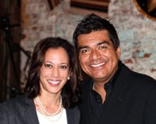 Perhaps Kamala Harris made her 'major announcement' in L.A. because of the George Lopez factor...