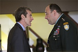 NICOLA DOVE - Peter Capaldi and James Gandolfini are ready to commit to the cause of war.