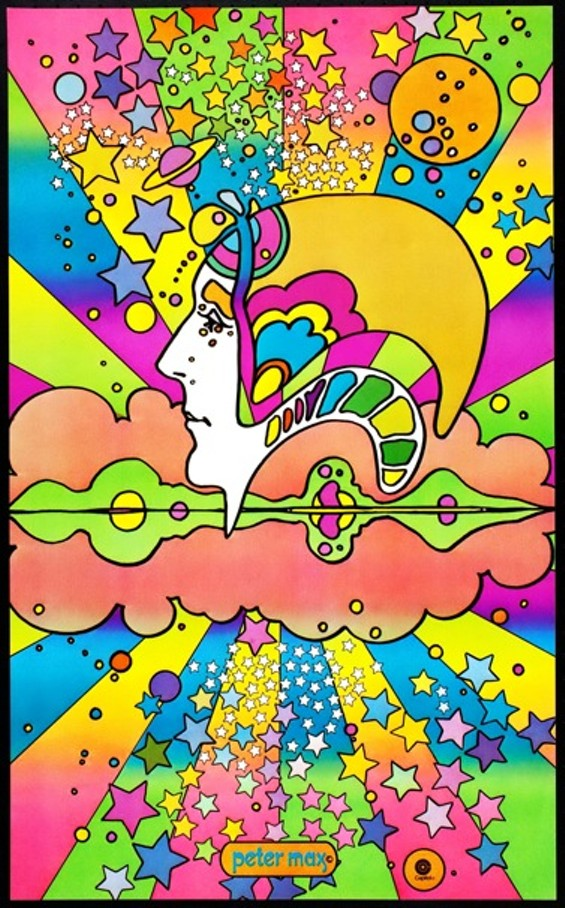 """Peter Max's """"The Different Drummer,"""" from 1968"""