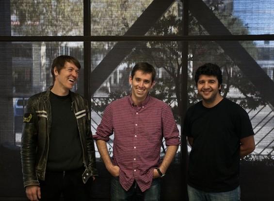 Photo of Florian Hoenig, Dave M. Coduto, and Chehin Toumi by Dorian Fitzgerald