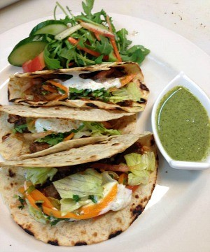 Phulka tacos are part of the fusion cuisine at Redwood City's new  Broadway Masala. - FACEBOOK/BROADWAY MASALA