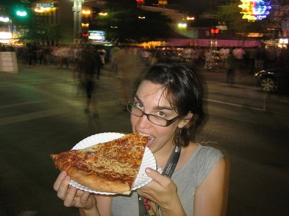 Pizza: Still not a diet food, not even at SXSW. - FLICKR/GHEWGILL
