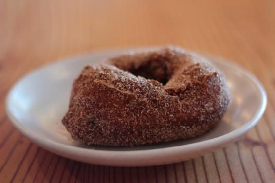 Pizzaiolo's buttermilk doughnut, fried in rice bran oil, rolled in cinnamon sugar - MOLLY GORE