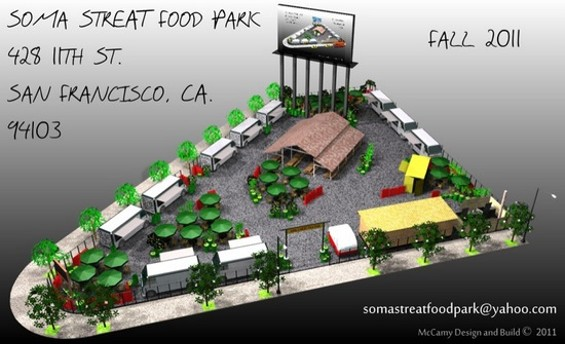 Plan of the site for SoMa Streat Food Park