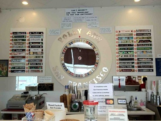 Polly Ann Ice Cream's wheel of fortune. - TAMARA PALMER