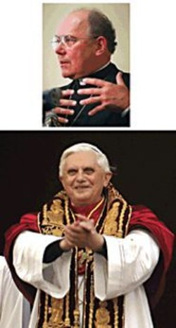 PHOTOGRAPHS COURTESY OF AP WIDE WORLD PHOTOS - Pope Benedict XVI appointed Archbishop Emeritus - William J. Levada to the Roman Catholic Church's - second most powerful position.