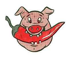 Porcine logo of salsa contender Eat This! - EATTHISMEXICAN.COM