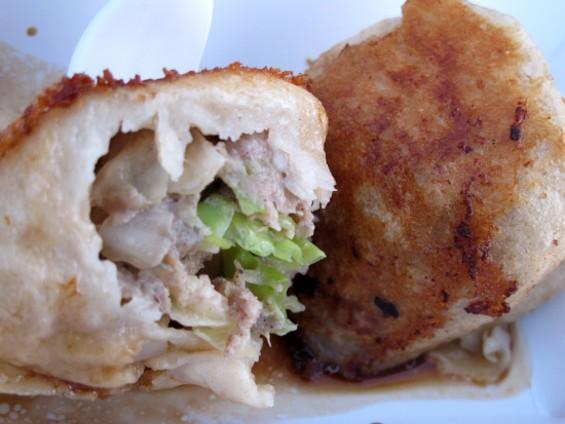 Pork and cabbage dumplings - LOU BUSTAMANTE