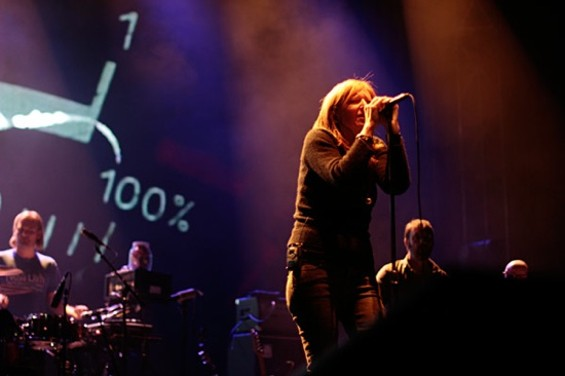 Portishead at the Greek Theatre on Friday - MATT SMITH