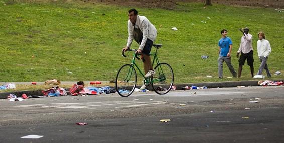 Post-race detritus in Golden Gate Park - JIM HERD