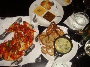 Pretzel knots, spinach and artichoke dip, pizza ― cuisine for Cheesecake Factory kids. - STEF E./YELP