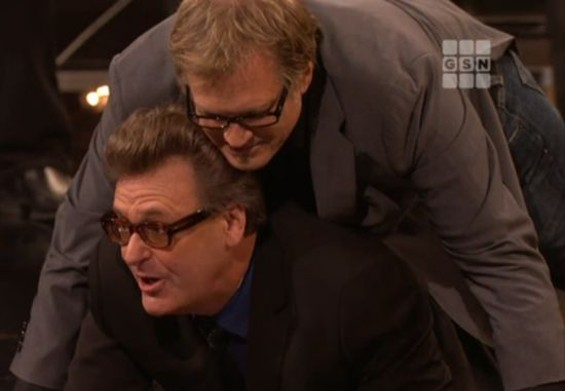 Proops performing with very close friend Drew Carey