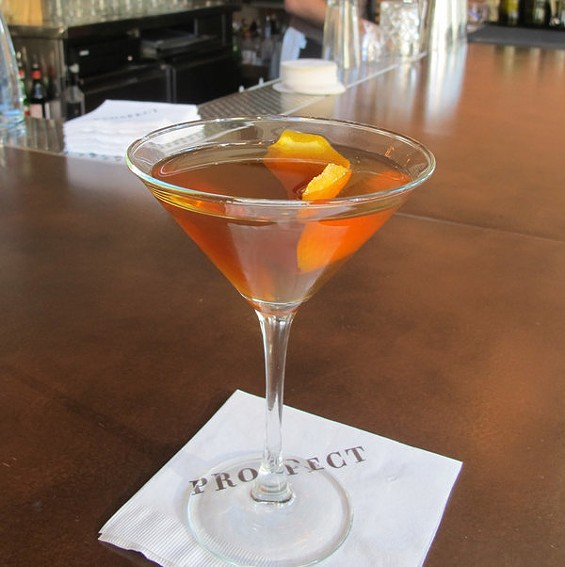 Prospect's Catcher in the Rye cocktail, $11.50. - LOU BUSTAMANTE