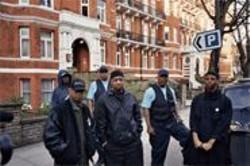 WALTER  LEAPHART - Public Enemy (L-R): Flavor Flav, Professor Griff, SW1 Pop Diesel, Chuck D, SW1 James Bomb, DJ Lord.