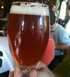 Pumpkin Schmunkin ale at 21st Amendment. - CHRISTINA SPITTLER