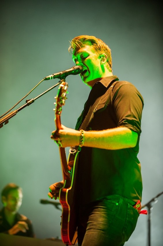 Queens of the Stone Age at Bill Graham Civic last night. - RICHARD HAICK