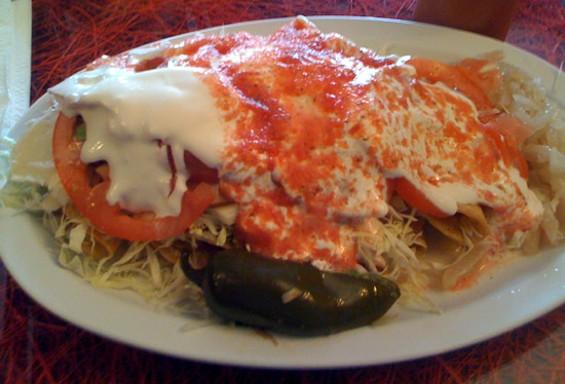 Quesadillas with ham and cheese (and pork and avocado and...), $7. - JONATHAN KAUFFMAN