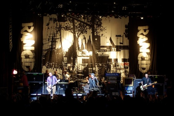 Rancid at the Warfield on Saturday.