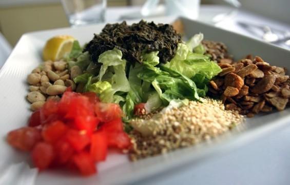 Rangoon Ruby's Tea Leaf Salad, from the people behind Burmese Superstar. - MIKE KOOZMIN