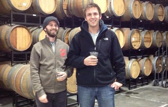 Rare Barrel brewing partners Jay Goodwin and Alex Wallash. - MORGAN WOOLLEY