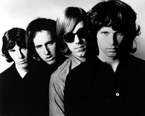 Ray Manzarek with the Doors, second from right.