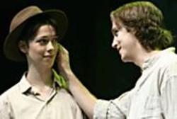 NOBBY  CLARK - Rebecca Hall (Rosalind) and Dan Stevens (Orlando).
