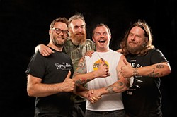 Red Fang: Armoring themselves with beer.