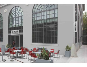 Rendering of the American Grilled Cheese Kitchen's patio seating. - ANDREW HEADINGTON