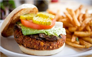Restaurant veggie burgers are moving beyond the frozen kind. - EVAN SUNG/THE NEW YORK TIMES