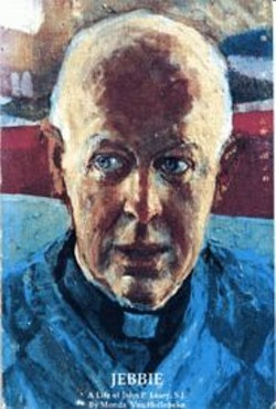 ART CREDIT HERE - Rev. John Leary, the captivating teacher with the penetrating eyes.