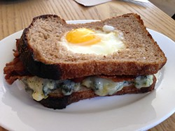 JOSH LESKAR - Reveille's breakfast sandwich is a classy take on toad-in-the-hole.