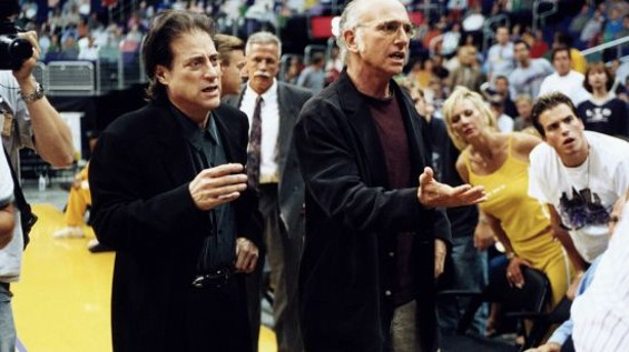 Richard Lewis and lifelong friend Larry David in HBO's Curb Your Enthusiasm