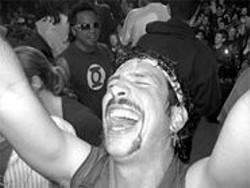 JENNIFER MAERZ - Ricky Stinkfingers celebrates his greatest victory since fourth grade.