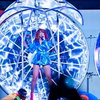 Rihanna at the Oracle Arena