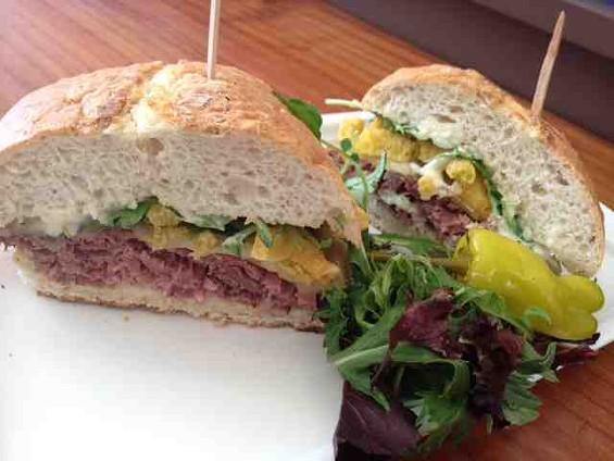 Roast beef sandwich at Market & Rye. - TAMARA PALMER