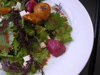 Roasted beet salad with ricotta salata and green beans in pluot vinaigrette, $7. - JOHN BIRDSALL