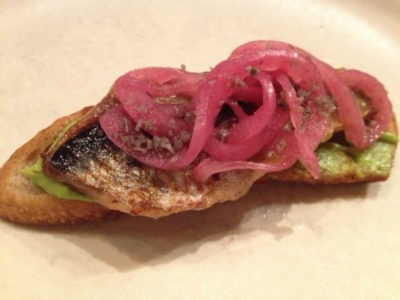Roasted Local Sardine and Avocado Toast
